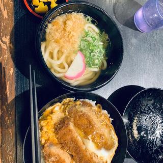 かつ丼ミニうどんセット(こまどりうどん 田村店)