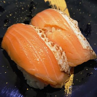 サーモン焼きハラス(回転寿司 大江戸 川崎店)