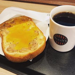 厚切りトースト ツナチェダーメルトセット(タリーズ コーヒー 綾瀬駅前店 (TULLY'S COFFEE))