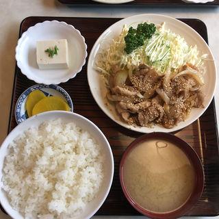 生姜焼き定食(むつみ食堂 )