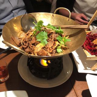 同源羊肉のクミン炒め(同源楼 (ドウゲンロウ))