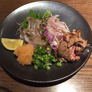 カワハギ刺身(ぽんしゅや三徳六味)