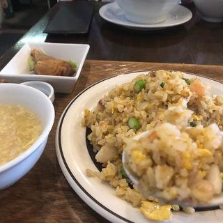 炒飯定食(杏仁荘 )