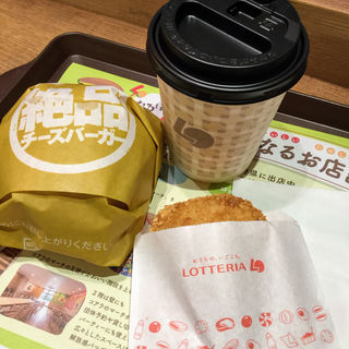 絶品チーズバーガーセット(ロッテリア 名古屋セントラルパーク店 (LOTTERIA))
