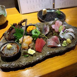 お造り:伊勢海老鮮魚3種盛り合わせ