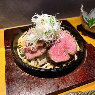和牛ランプの銅板焼き(伊勢海老蕎麦 清正)