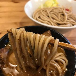海老トマトつけ麺 肉増し+味玉(らーめん いつ樹 本店)