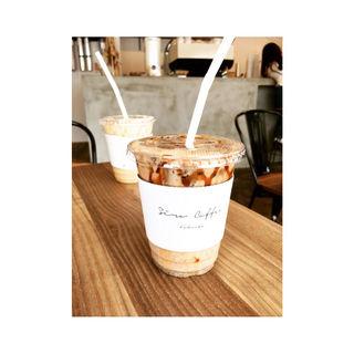 塩きなこシェイク 黒みつかけ(Siro Coffee(シロコーヒー))