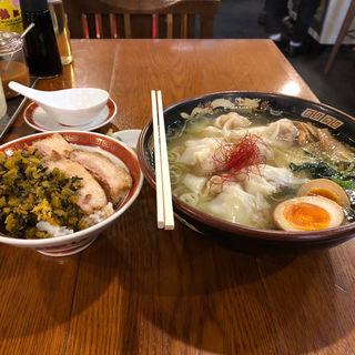 濃厚黒豚雲呑麺(広州市場 五反田店 (コウシュウイチバ))