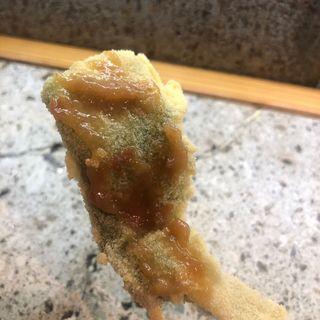 きすの大葉揚げ梅肉ソース(串処 小林 )