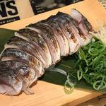 炙り〆鯖の薬味刺し