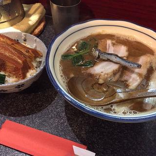 お昼の三くセット(烈志笑魚油 麺香房 三く)