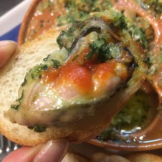 牡蠣のアヒージョ(東京オイスターバー)