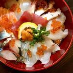 海鮮丼定食(ランチ)(旬味旬菜 大和)