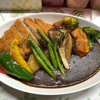 野菜カレー(カツトッピング)