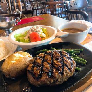 ビッグジョーハンバーグステーキ250g+ライススープサラダset(ビッグ・ジョー 藤井寺店 (Big joe))