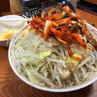 ラーメン(ニンニク、ヤサイ)+つけ麺+タマネギキムチ