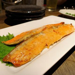 鮭の焼きハラス(海老麺総本家 ジモトヤ )