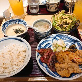 バラエティランチ(牛たんと和牛焼青葉 グランデュオ立川店)