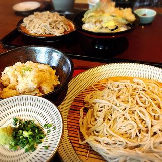 ざる蕎麦とタケノコご飯(十割そば 素屋石丸本店 (もとや))