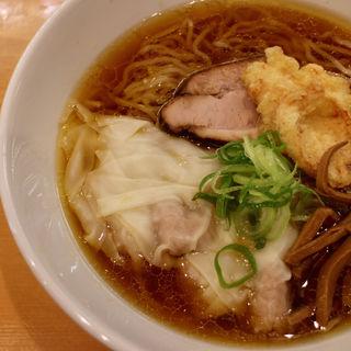 鶏中華そば+もち豚ワンタン(ほっぺ家はなれ 斗香庵)