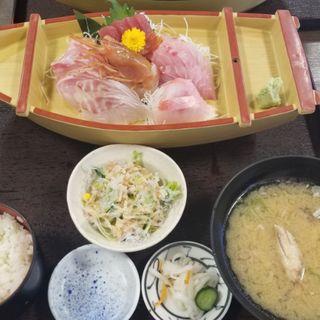 上刺身船盛定食(島武水産)