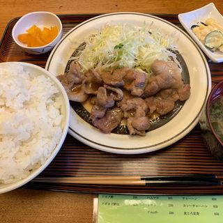 豚肉生姜焼定食(つるかめ食堂 歌舞伎町店 (つるかめしょくどう))