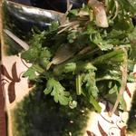 春菊とパクチーのサラダ