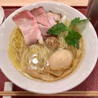 特製いりこそば(麦と麺助 新梅田中津店)