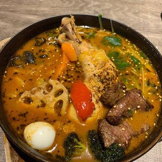 北海道産チキンのスープカレー