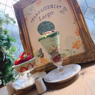 利休 〜抹茶とほうじ茶とマスカルポーネ〜(パフェ×酒 パフェテリア Largo)