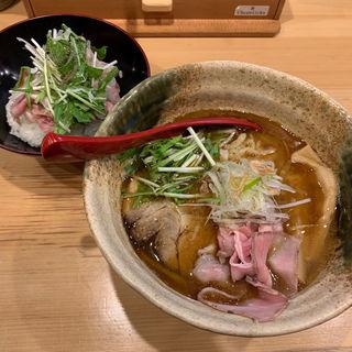 焼きあご塩らー麺 セット(焼きあご塩らー麺たかはし 銀座店)