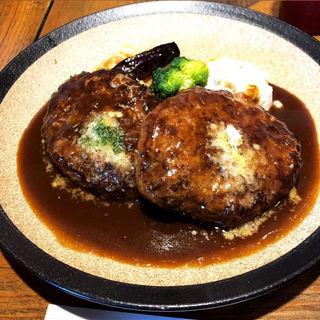 ダブルハンバーグ(山本のハンバーグ 六本松店)