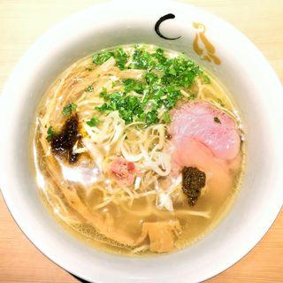 真鯛と蛤の塩そば(SOBA HOUSE 金色不如帰 新宿御苑本店 (コンジキホトトギス))