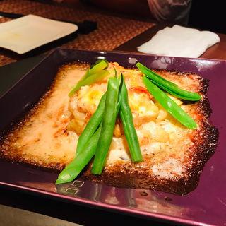 平目とズワイガニとポテトの明太子風味グラタン(旬菜ステーキ処 らいむらいと (シュンサイステーキドコロ ライムライト))