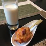 冷製ジャガイモのポタージュ / 桜海老のフリット