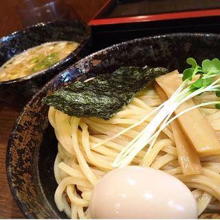 濃厚魚介つけ麺【極太麺】煮玉子