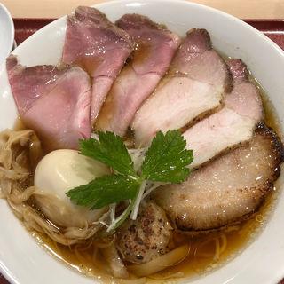 中華そば味玉(チャーシュートッピング)(麦と麺助 新梅田中津店)