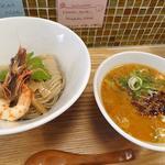 濃厚海老潮つけ麺(らーめん 砦 寺田町店)
