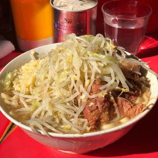 ぶたラーメン(ニンニク、ヤサイ)(ラーメン二郎 三田本店 (らーめんじろう))