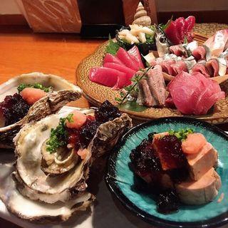 刺身6点盛り(酒の魚 和海 )