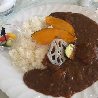 野菜の甘みぎっしりカレー(夢二カフェ 港や (ユメジカフェ ミナトヤ))