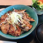四元豚の網焼き豚丼