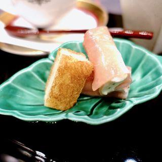 豆腐テリーヌ生ハム巻+海老サンド