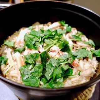 蟹釜炊き御飯
