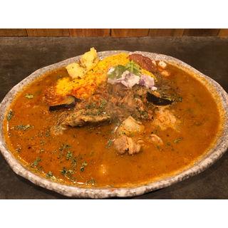 スペシャル肉盛りカレー(ツキノワカレー )