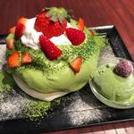 宇治抹茶とフレッシュいちご (Riz Labo Kitchen 銀座)