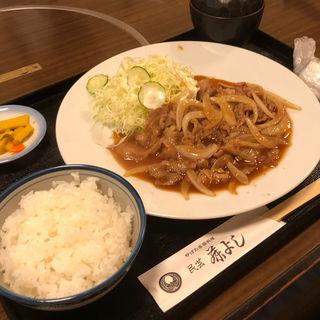 豚しょうが焼き定食(藤よし 堺駅前店 (ふじよし))