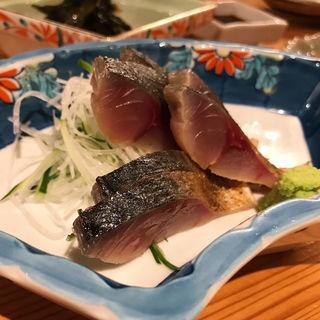 〆さ鯖のお造り(肴や ちぎら)