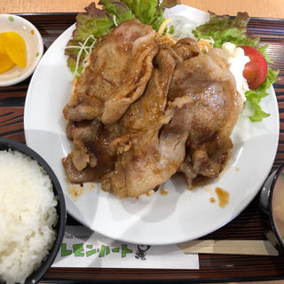 レモンポーク生姜焼き定食